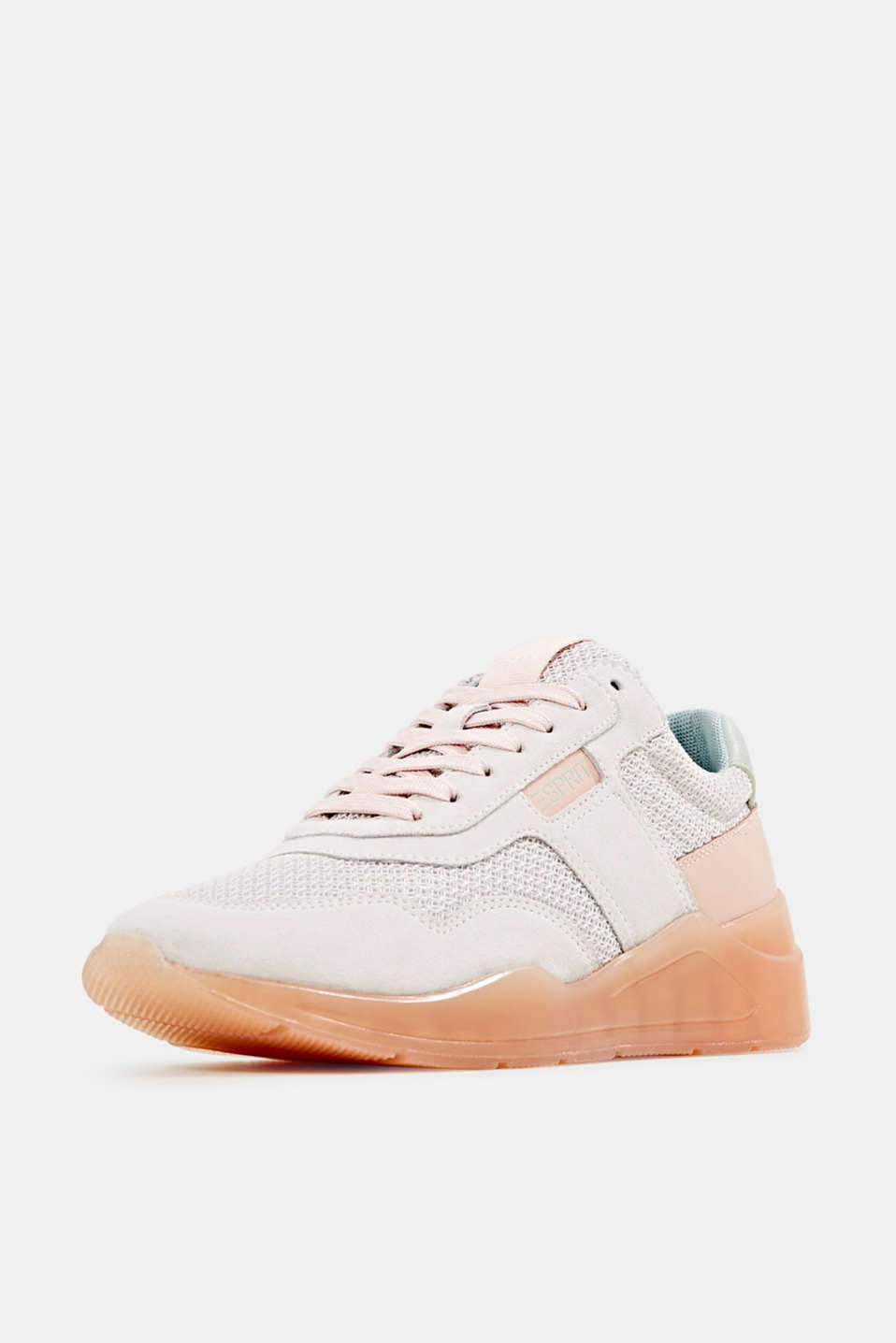 Fashion trainers with leather, LIGHT GREY, detail image number 2
