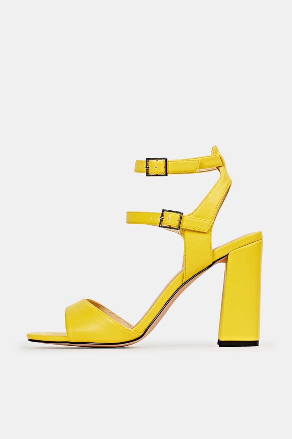 Faux leather sandals, YELLOW, detail image number 0