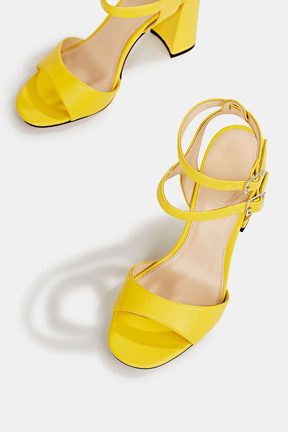Faux leather sandals, YELLOW, detail image number 1
