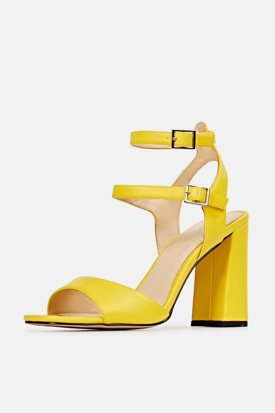 Faux leather sandals, YELLOW, detail image number 2