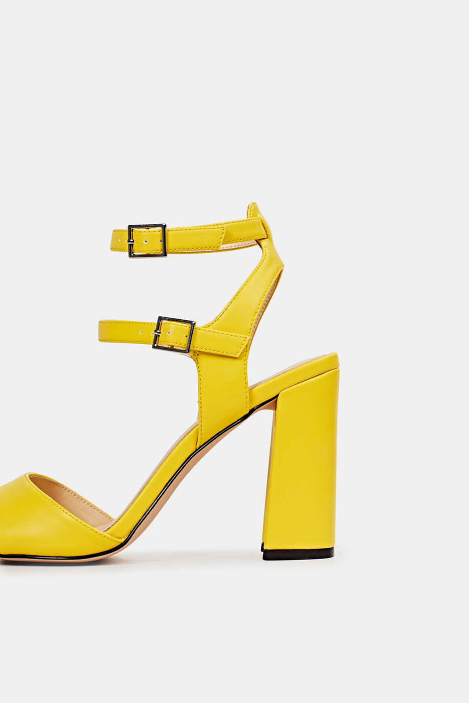 Faux leather sandals, YELLOW, detail image number 4