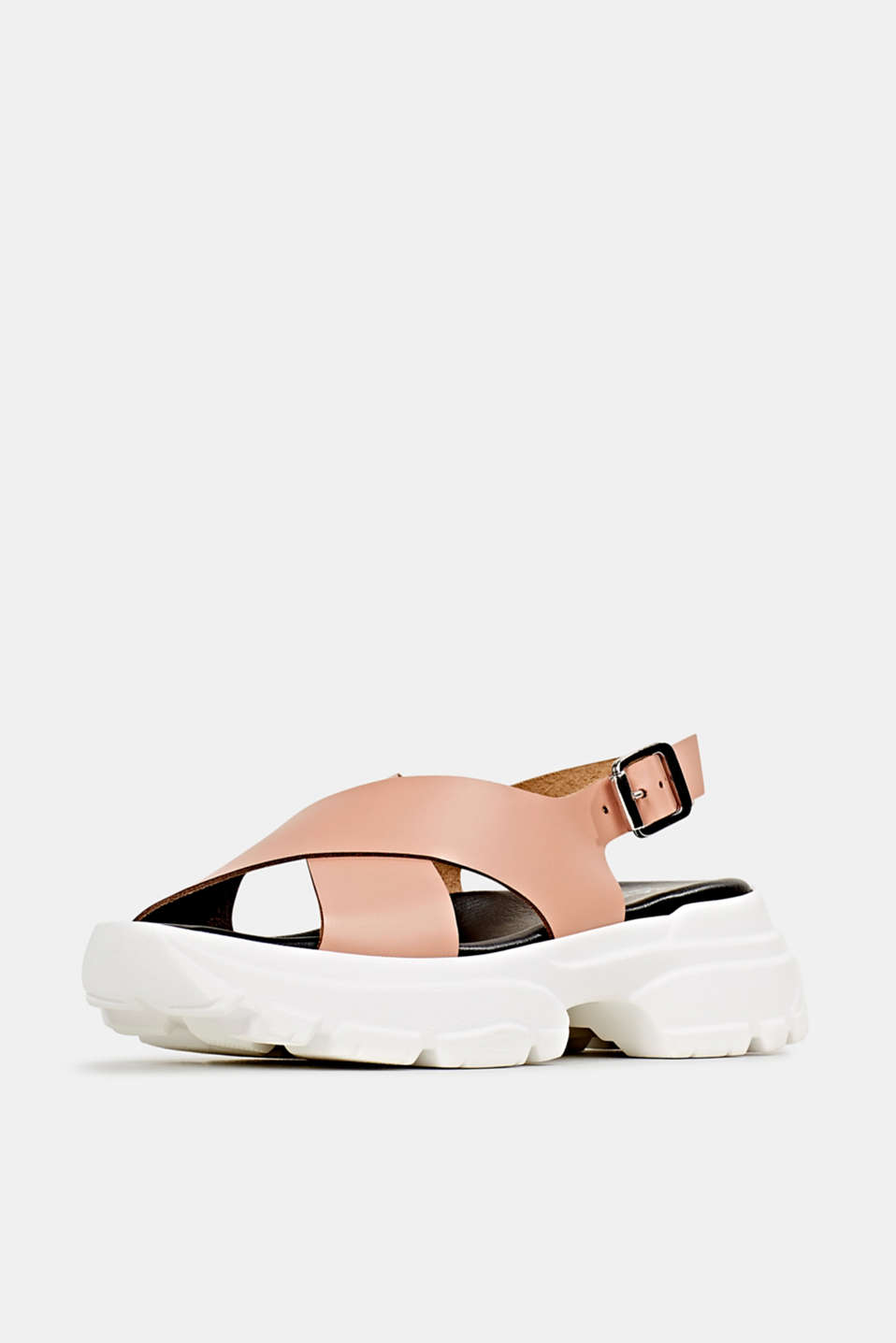 Leather trainer sandals, BLUSH, detail image number 2
