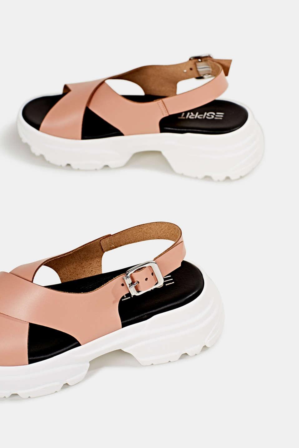 Leather trainer sandals, BLUSH, detail image number 5