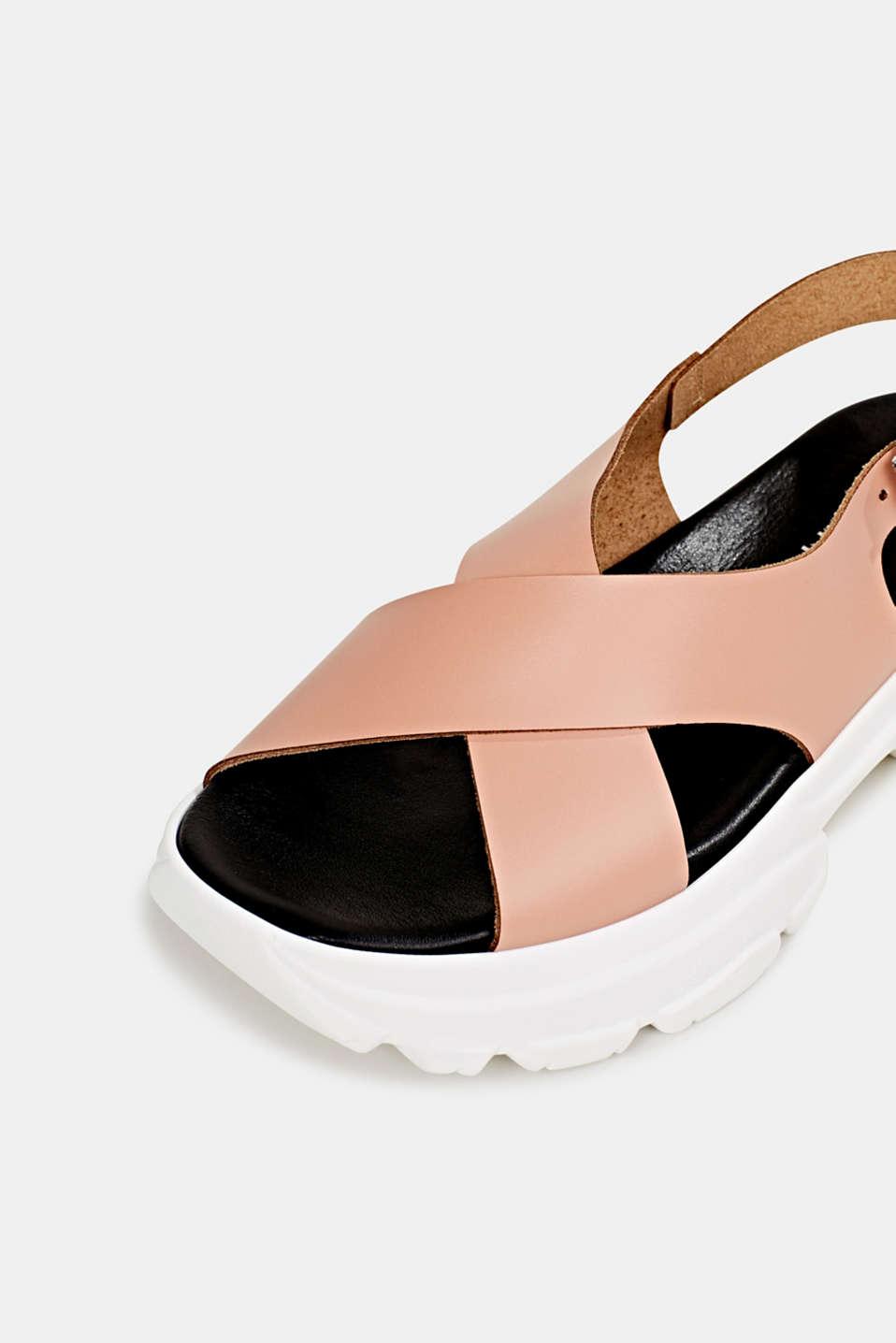 Leather trainer sandals, BLUSH, detail image number 4