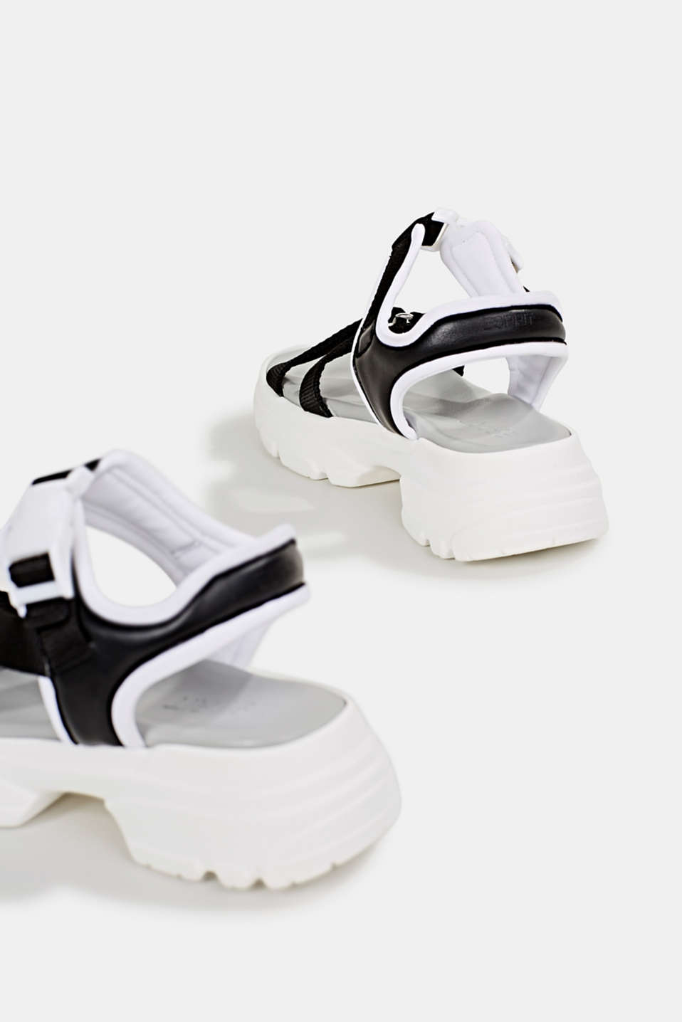 Hiking sandals with trainer soles, BLACK, detail image number 5
