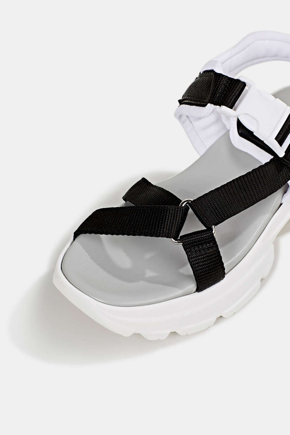 Hiking sandals with trainer soles, BLACK, detail image number 4