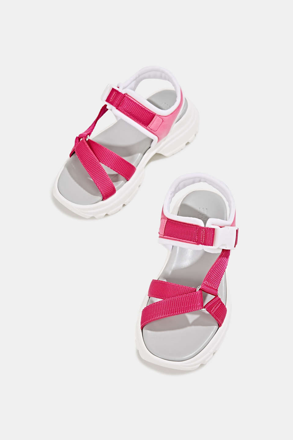Hiking sandals with trainer soles, PINK FUCHSIA, detail image number 1