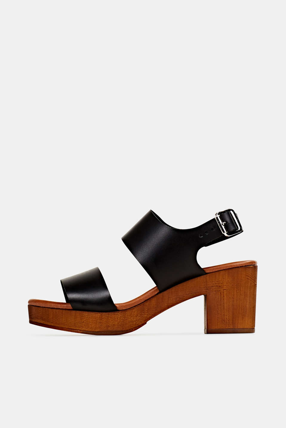 Faux leather sandal, BLACK, detail image number 0