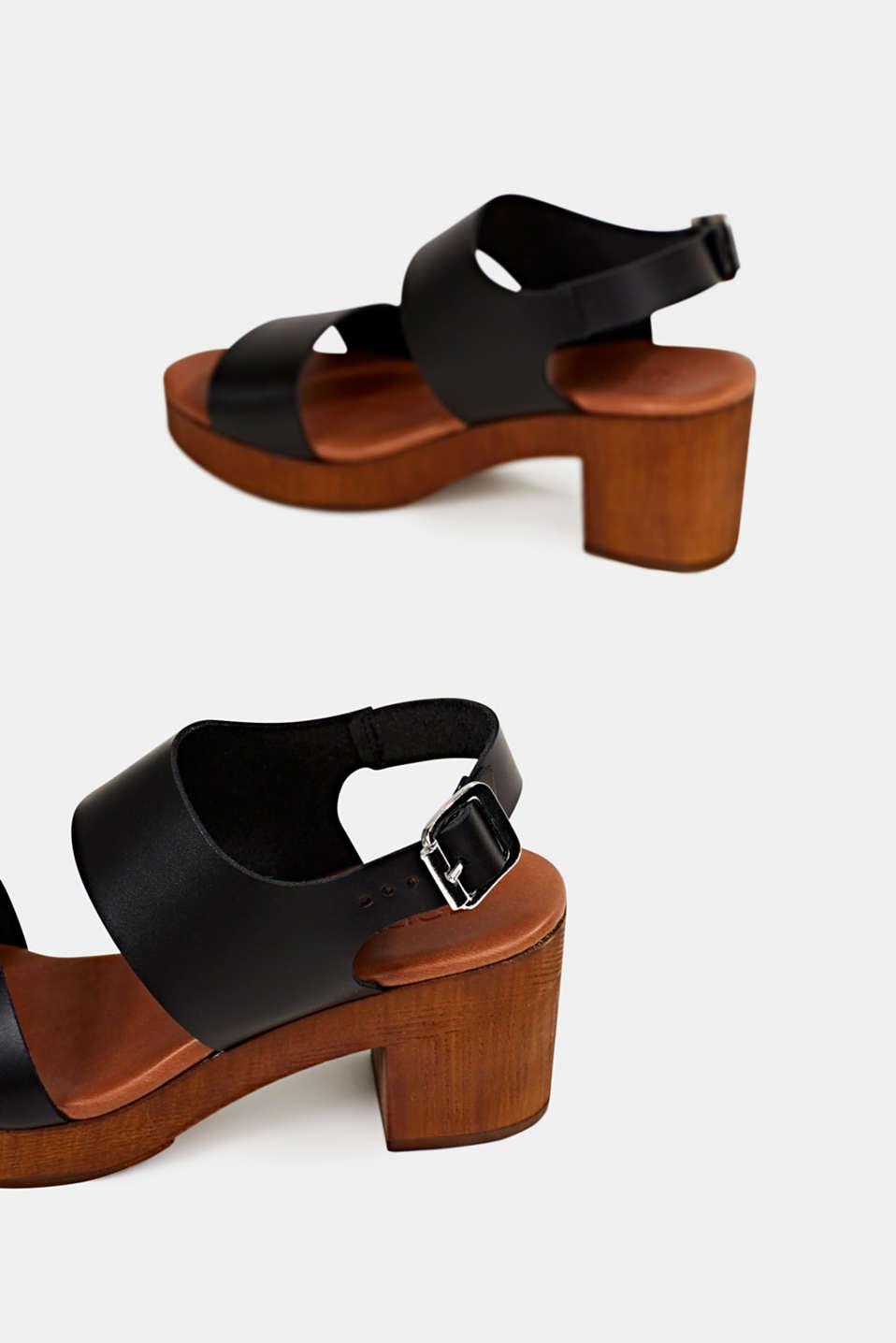Faux leather sandal, BLACK, detail image number 5