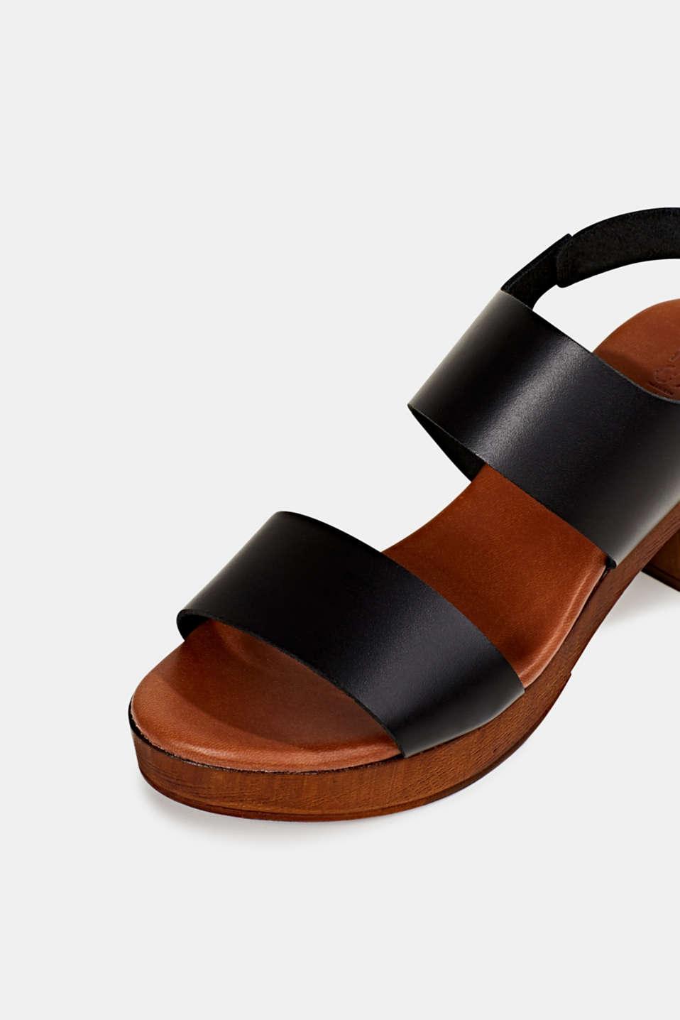 Faux leather sandal, BLACK, detail image number 4