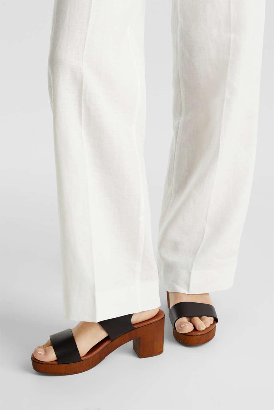 Faux leather sandal, BLACK, detail image number 3