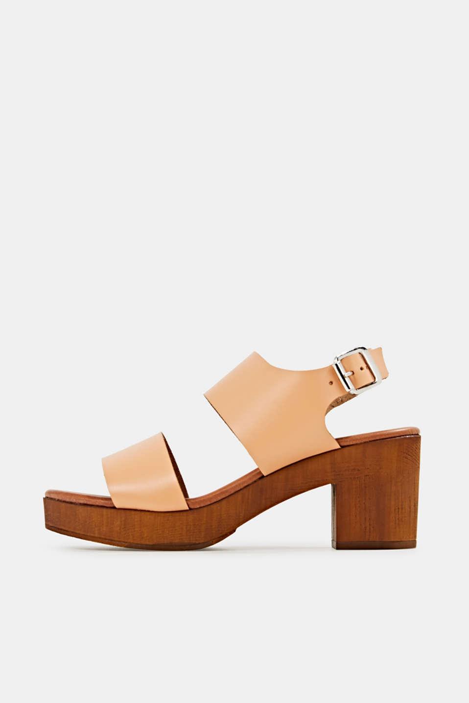 Faux leather sandal, CARAMEL, detail image number 0