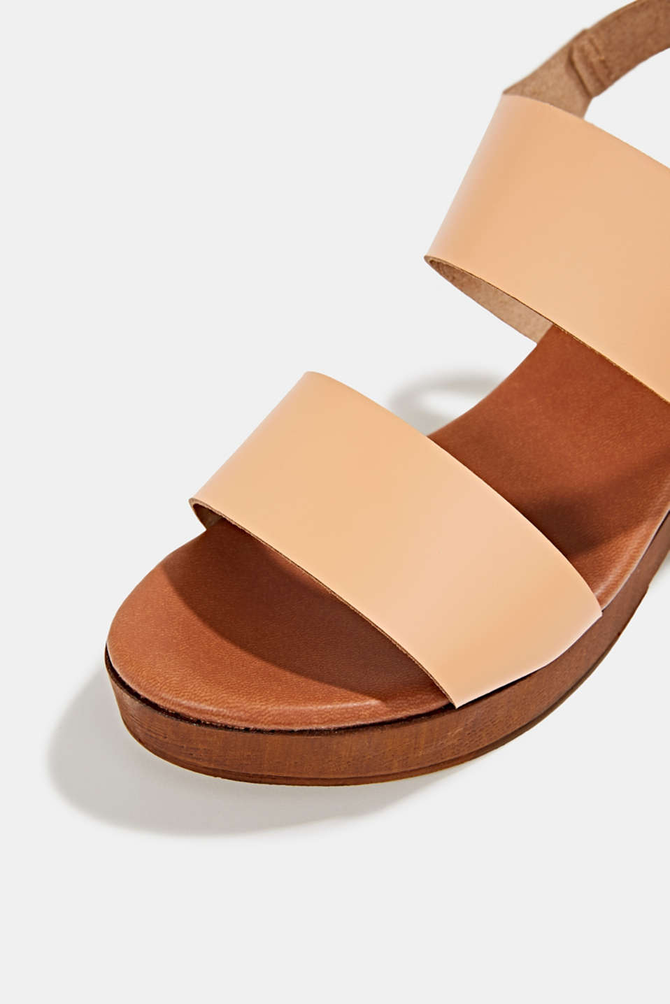 Faux leather sandal, CARAMEL, detail image number 4