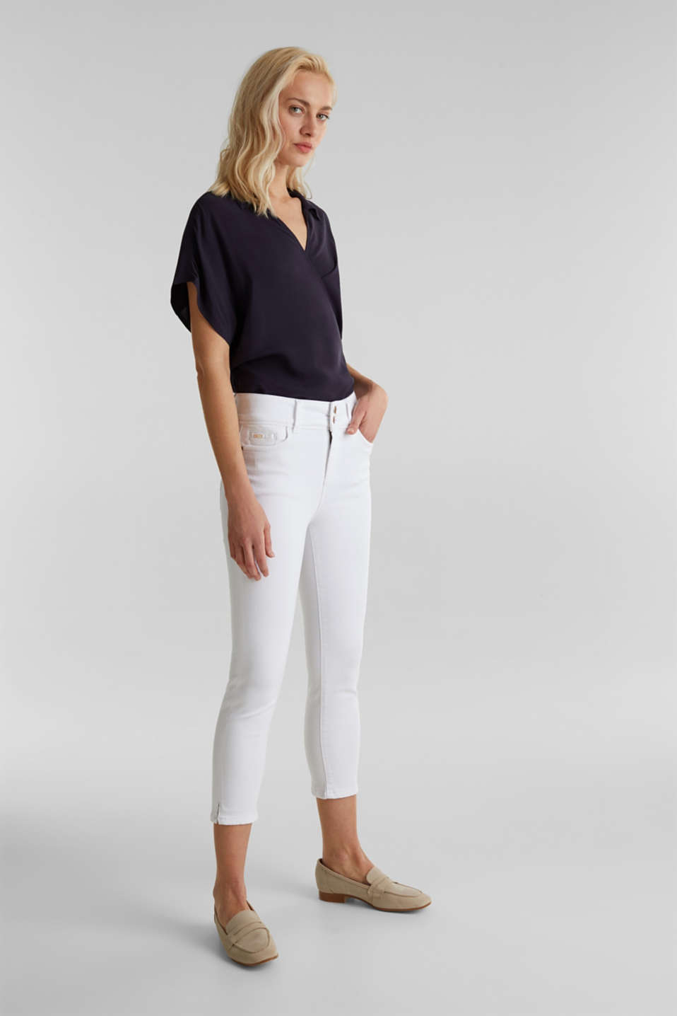 Esprit - Business capribroek van shaping denim