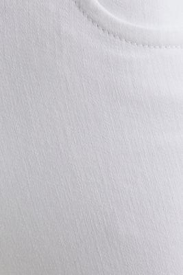 Business capris in shaping denim, WHITE, detail