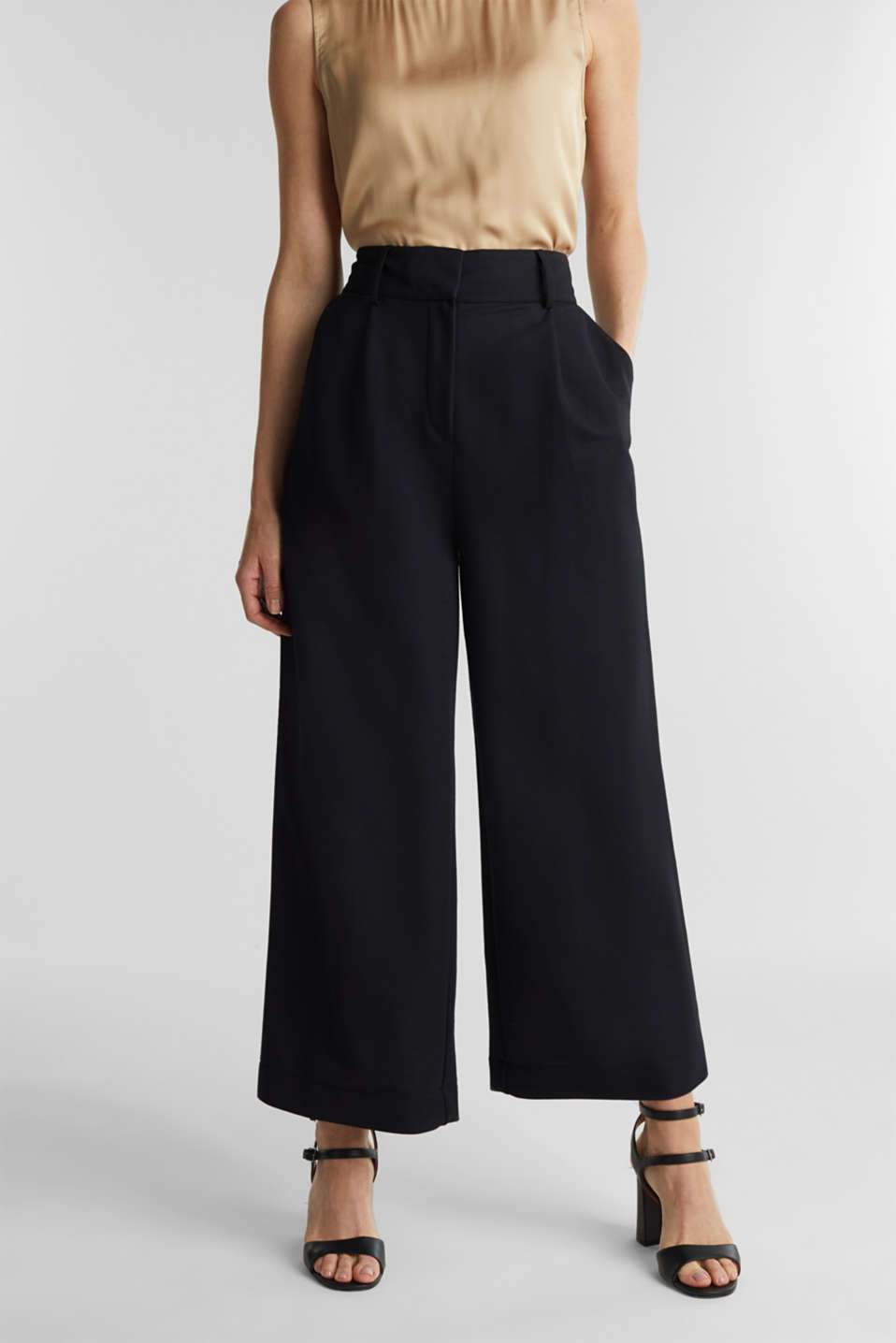 Soft jersey culottes, BLACK, detail image number 0