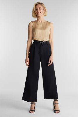 Soft jersey culottes, BLACK, detail