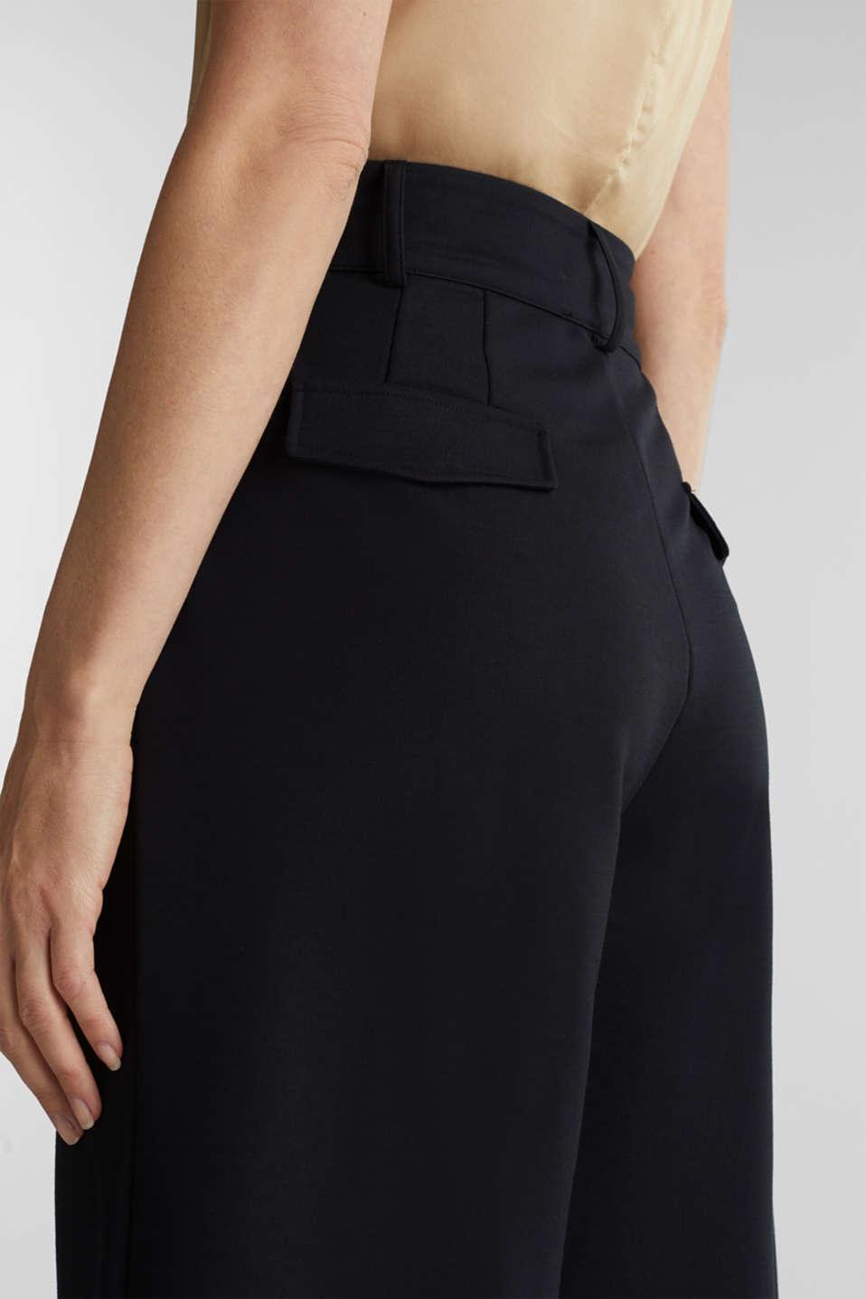 Soft jersey culottes, BLACK, detail image number 2