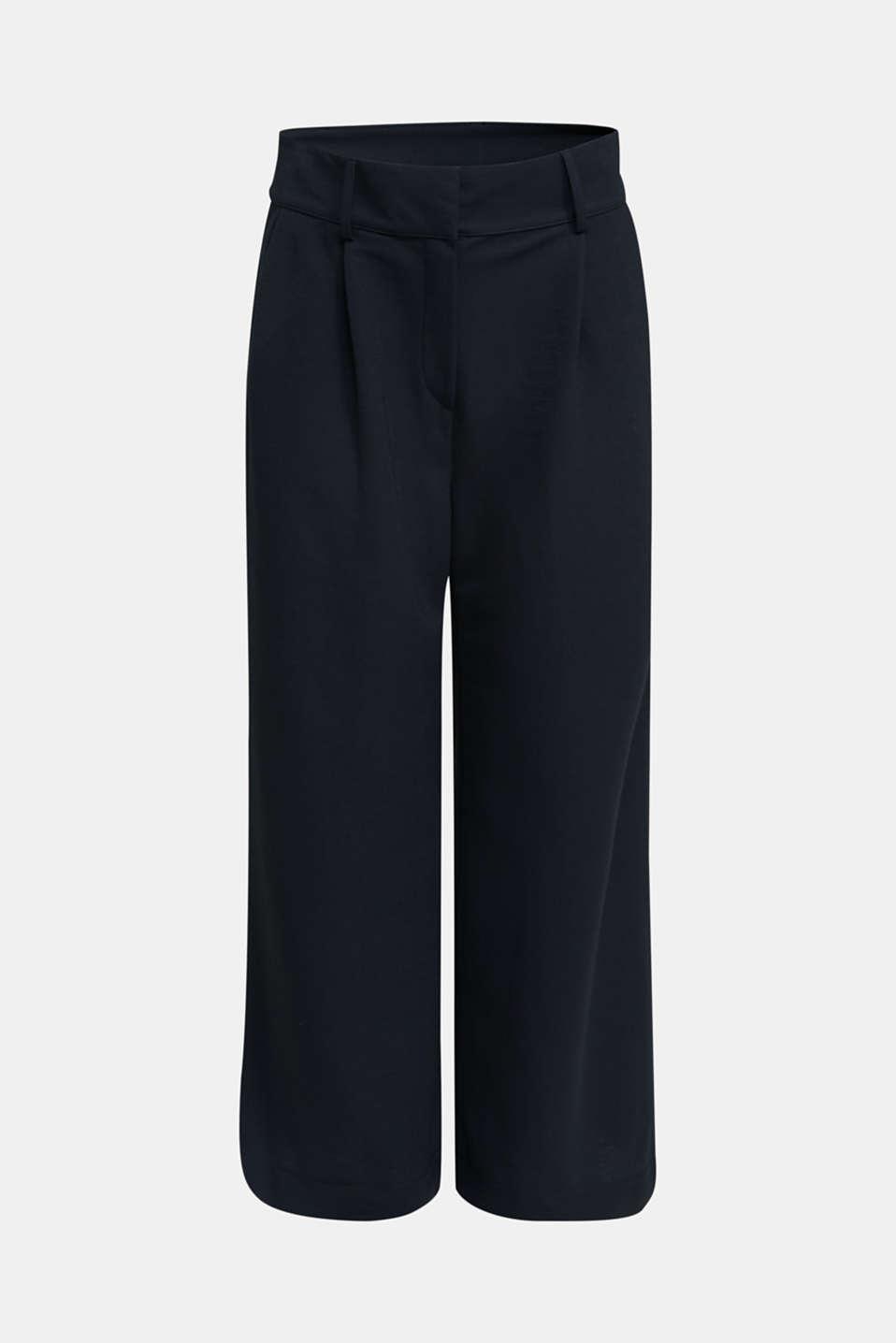 Soft jersey culottes, BLACK, detail image number 7