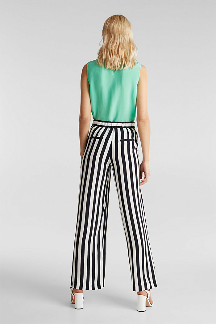 Crêpe trousers with an elasticated waistband, OFF WHITE, detail image number 3