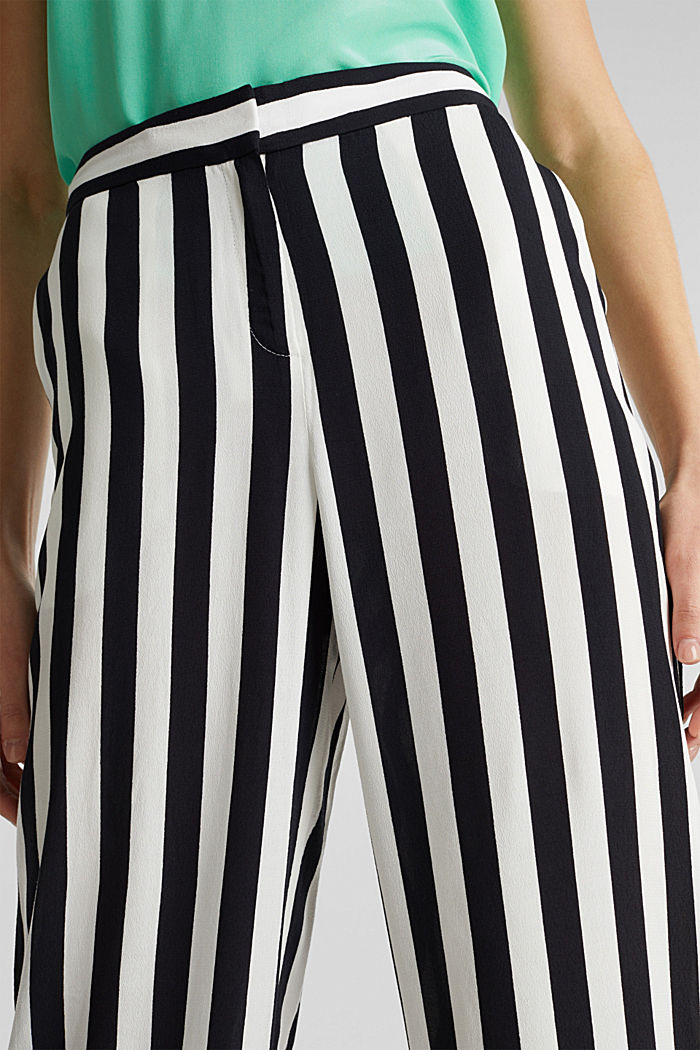 Crêpe trousers with an elasticated waistband, OFF WHITE, detail image number 2