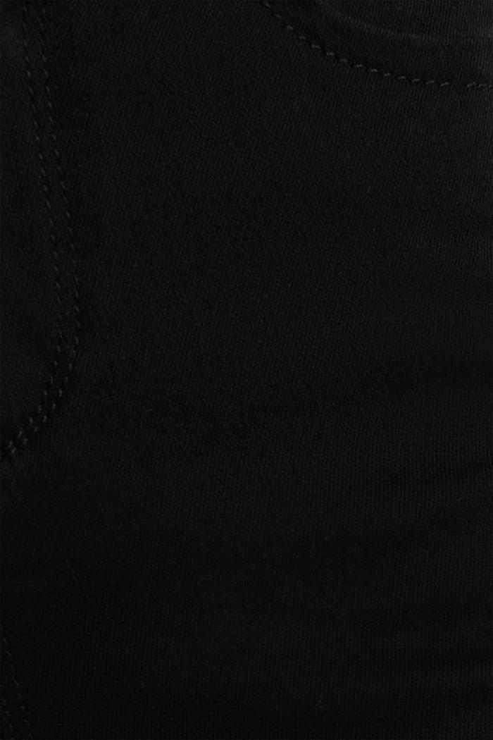 Business-Capri aus Shaping-Denim, BLACK RINSE, detail image number 4