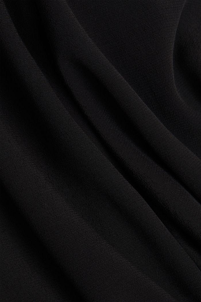 Crêpe trousers, LENZING™ ECOVERO™, BLACK, detail image number 4