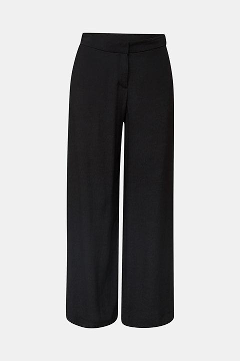 Crêpe trousers, LENZING™ ECOVERO™