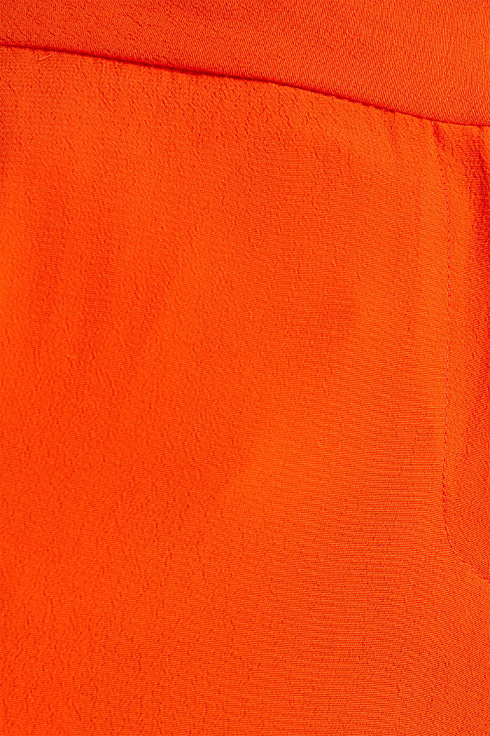 Crêpe trousers, LENZING™ ECOVERO™, RED ORANGE, detail image number 4