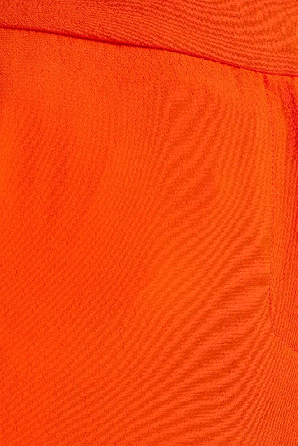 Crêpe trousers, LENZING™ ECOVERO™, RED ORANGE, detail image number 4