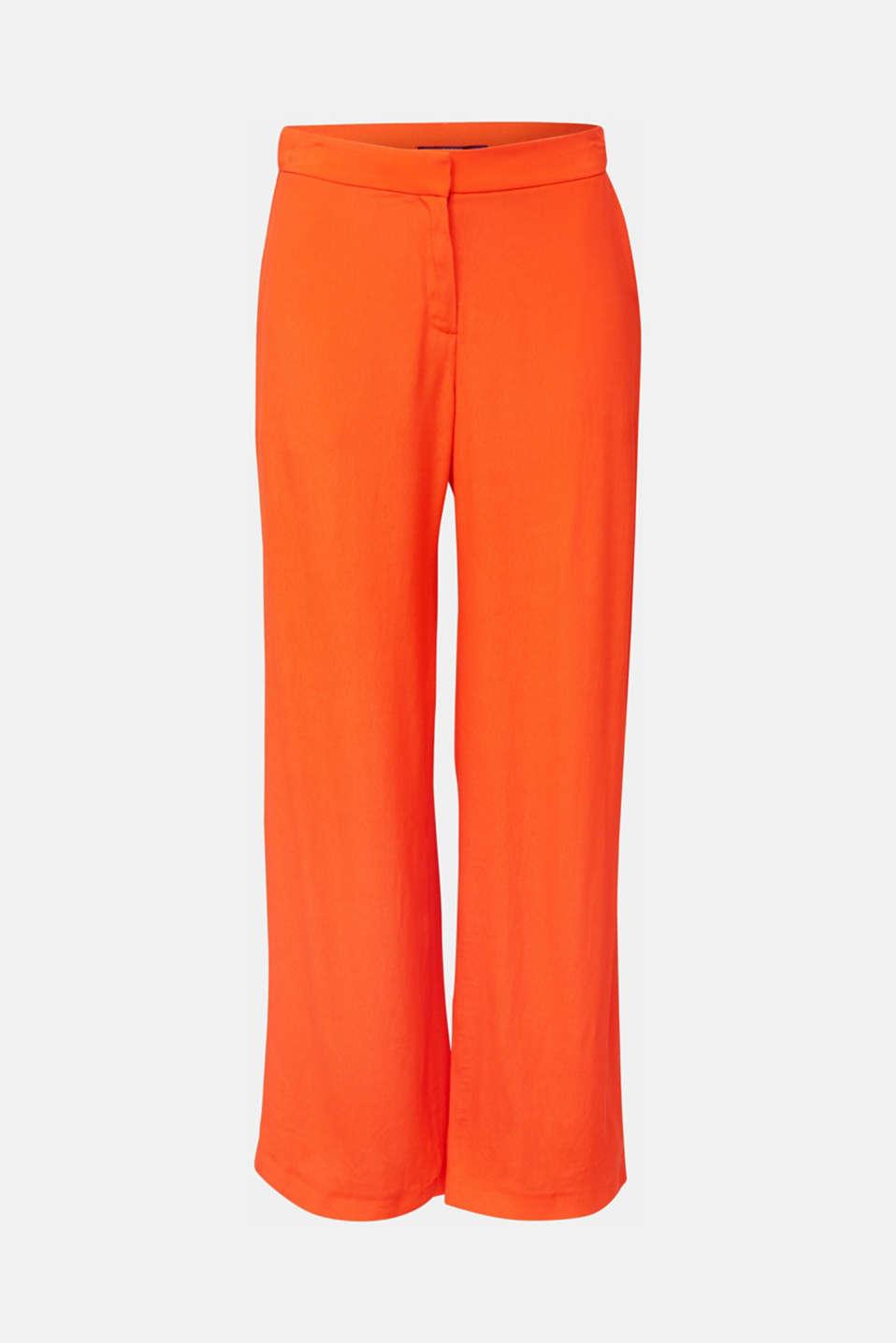 Crêpe trousers, LENZING™ ECOVERO™, RED ORANGE, detail image number 7