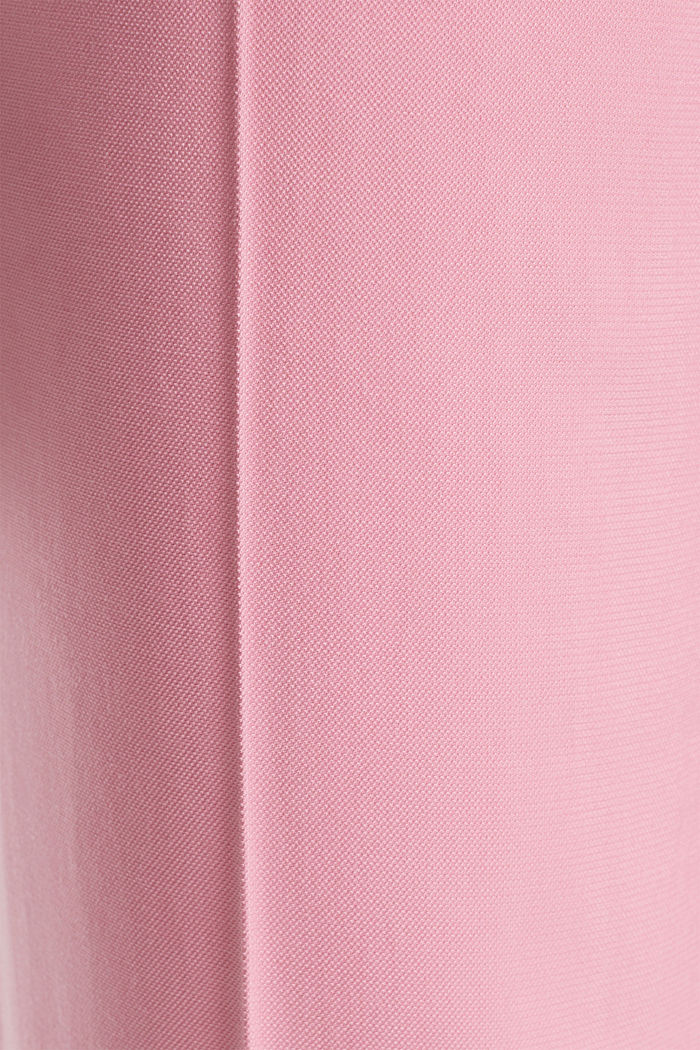 Ankle-length trousers with a flowing drape, PINK, detail image number 4