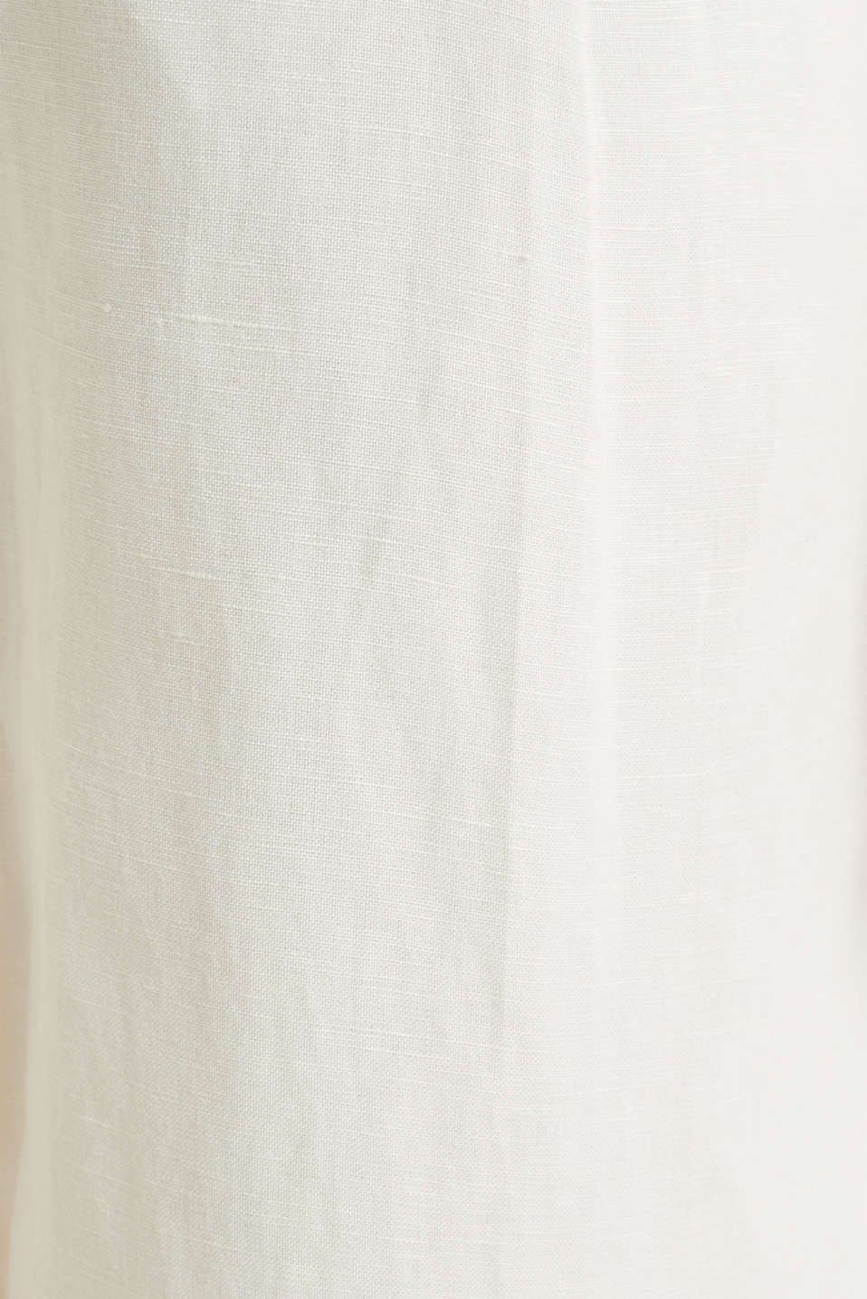 Linen blend: culottes with waist pleats, OFF WHITE, detail image number 4