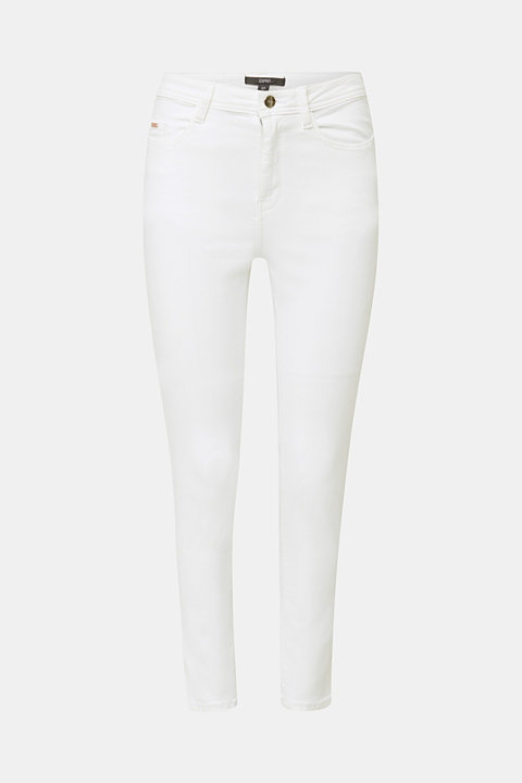 Ankle-length jeans with gold-coloured details