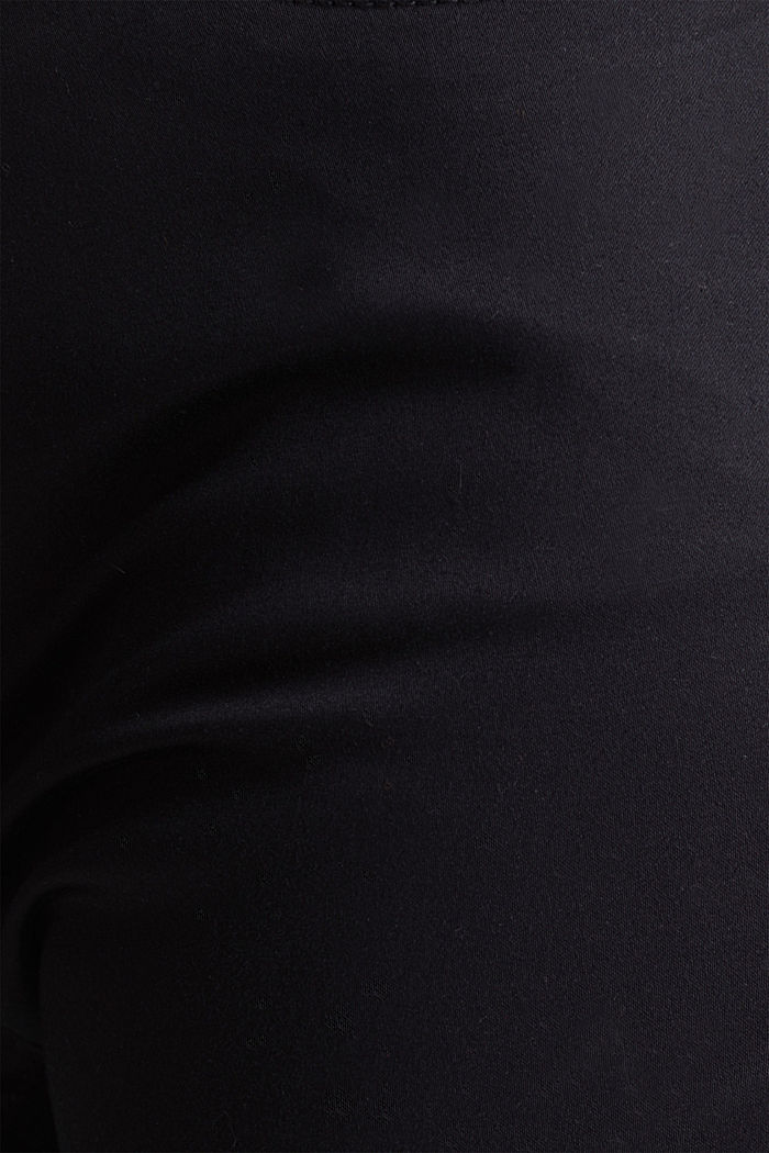 Knee-length satin business trousers, BLACK, detail image number 3