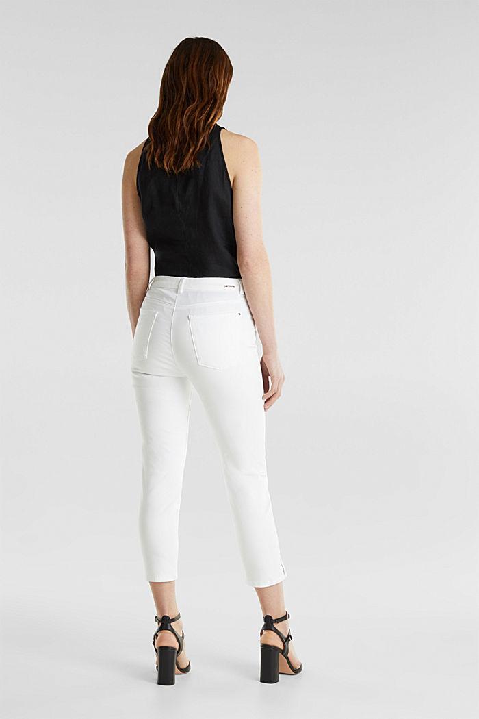 Pantalon business en satin de longueur cheville, WHITE, detail image number 3