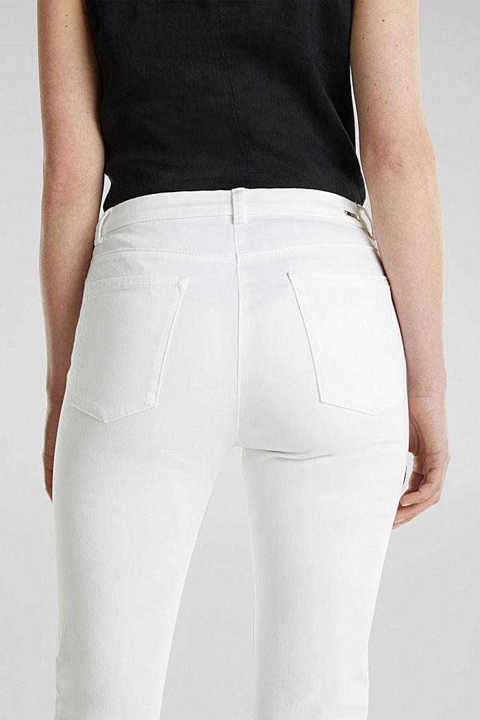 Pantalon business en satin de longueur cheville, WHITE, detail image number 2