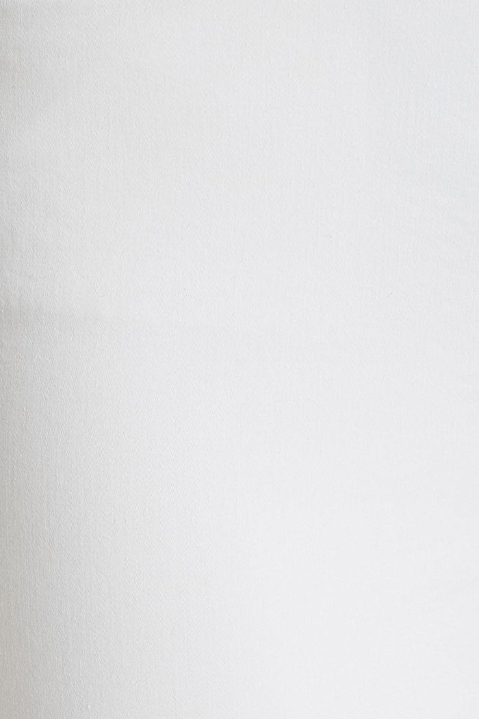Pantalon business en satin de longueur cheville, WHITE, detail image number 4