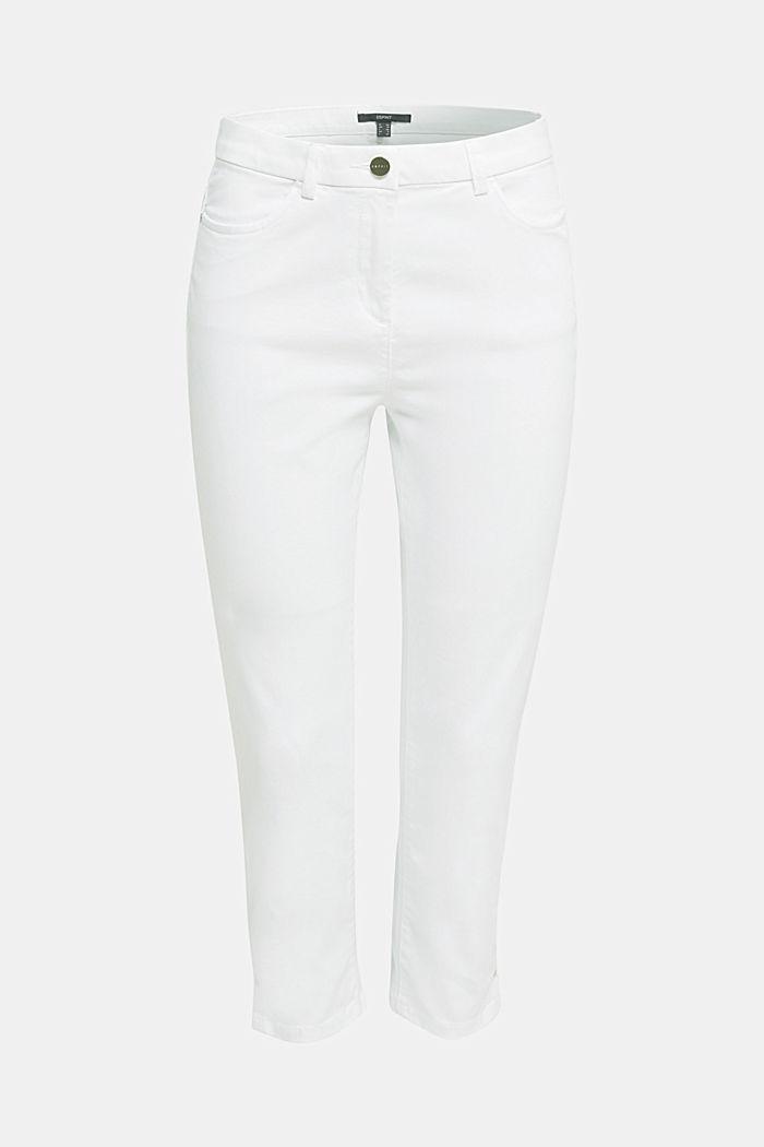 Pantalon business en satin de longueur cheville, WHITE, detail image number 6