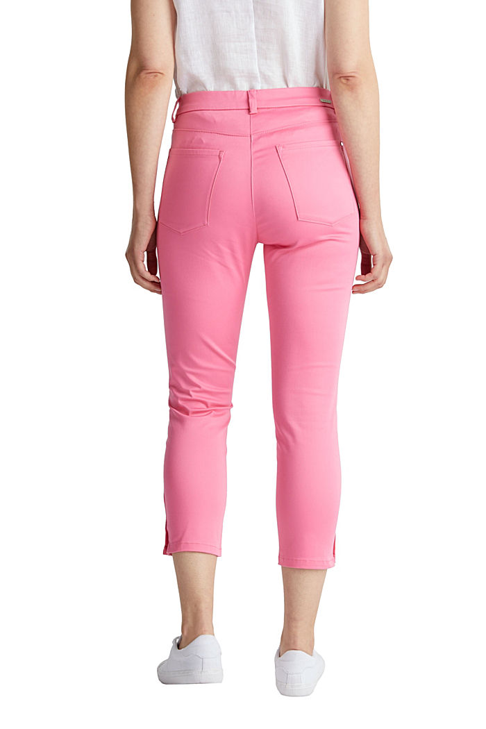 Knee-length satin business trousers, PINK, detail image number 3