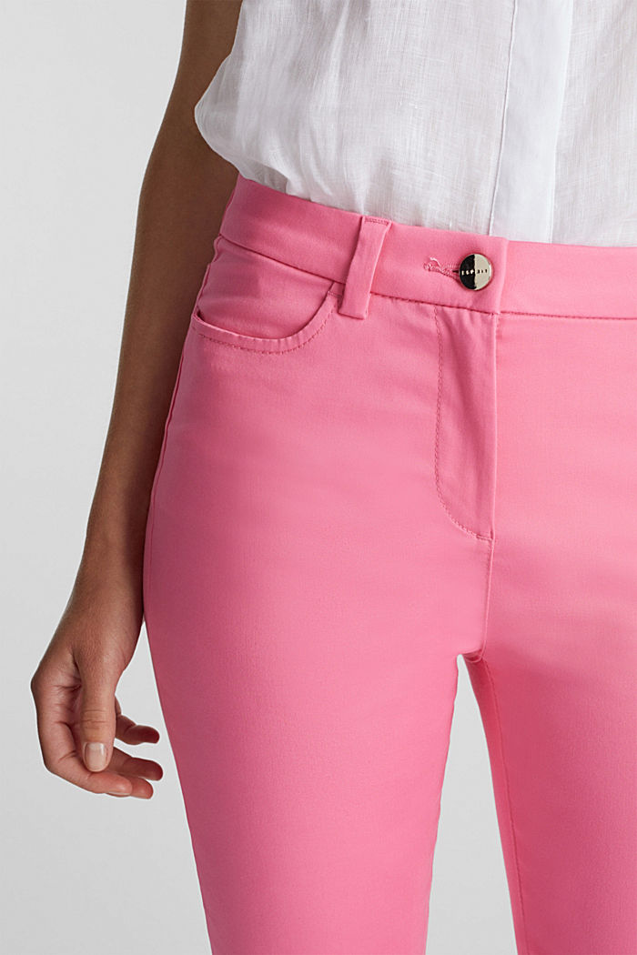 Knee-length satin business trousers, PINK, detail image number 2