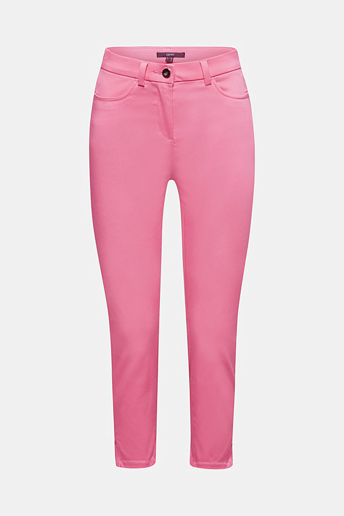 Knee-length satin business trousers, PINK, detail image number 6