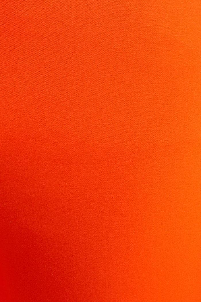 Knöchellange Business-Hose aus Satin, RED ORANGE, detail image number 4