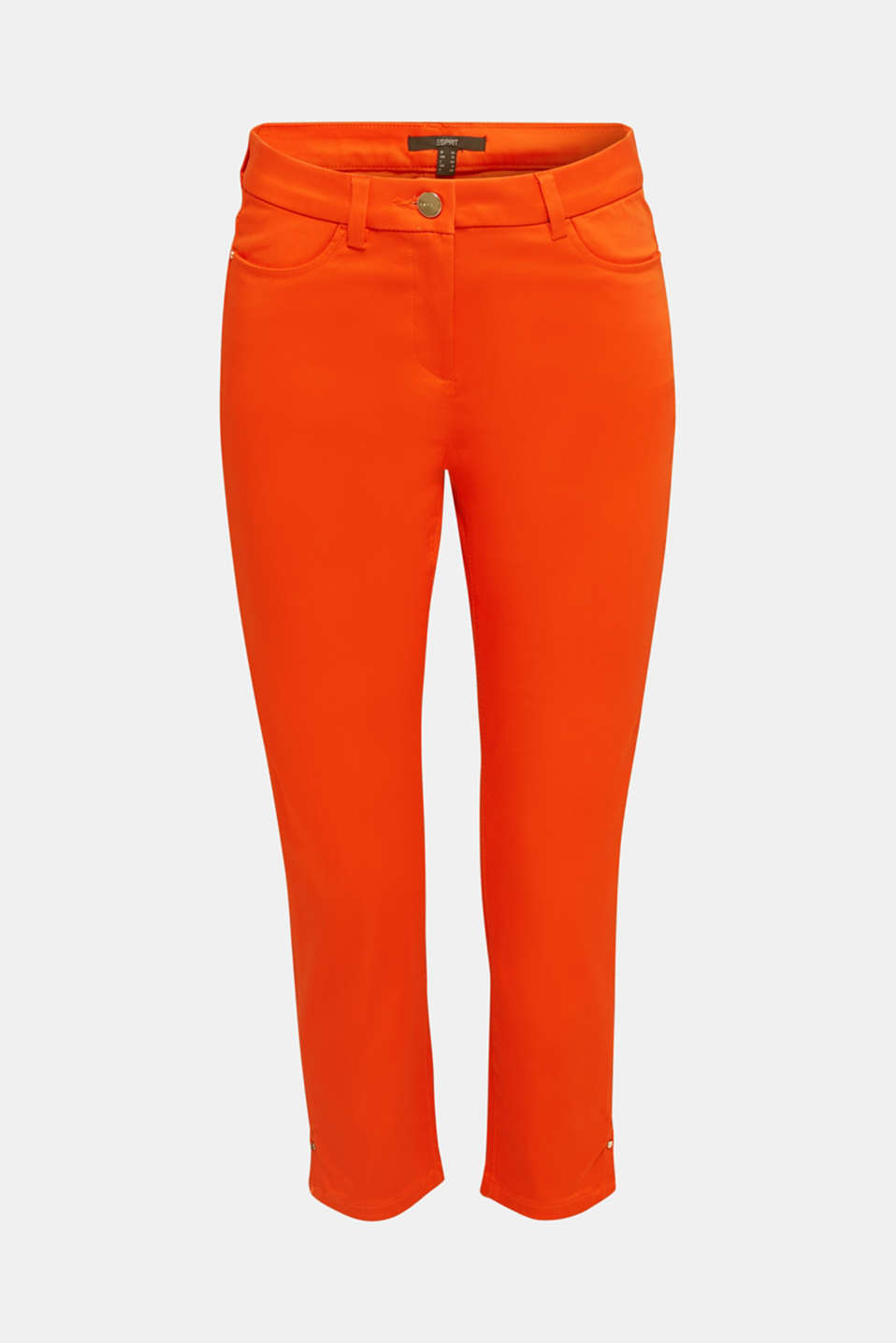 Knee-length satin business trousers, RED ORANGE, detail image number 7