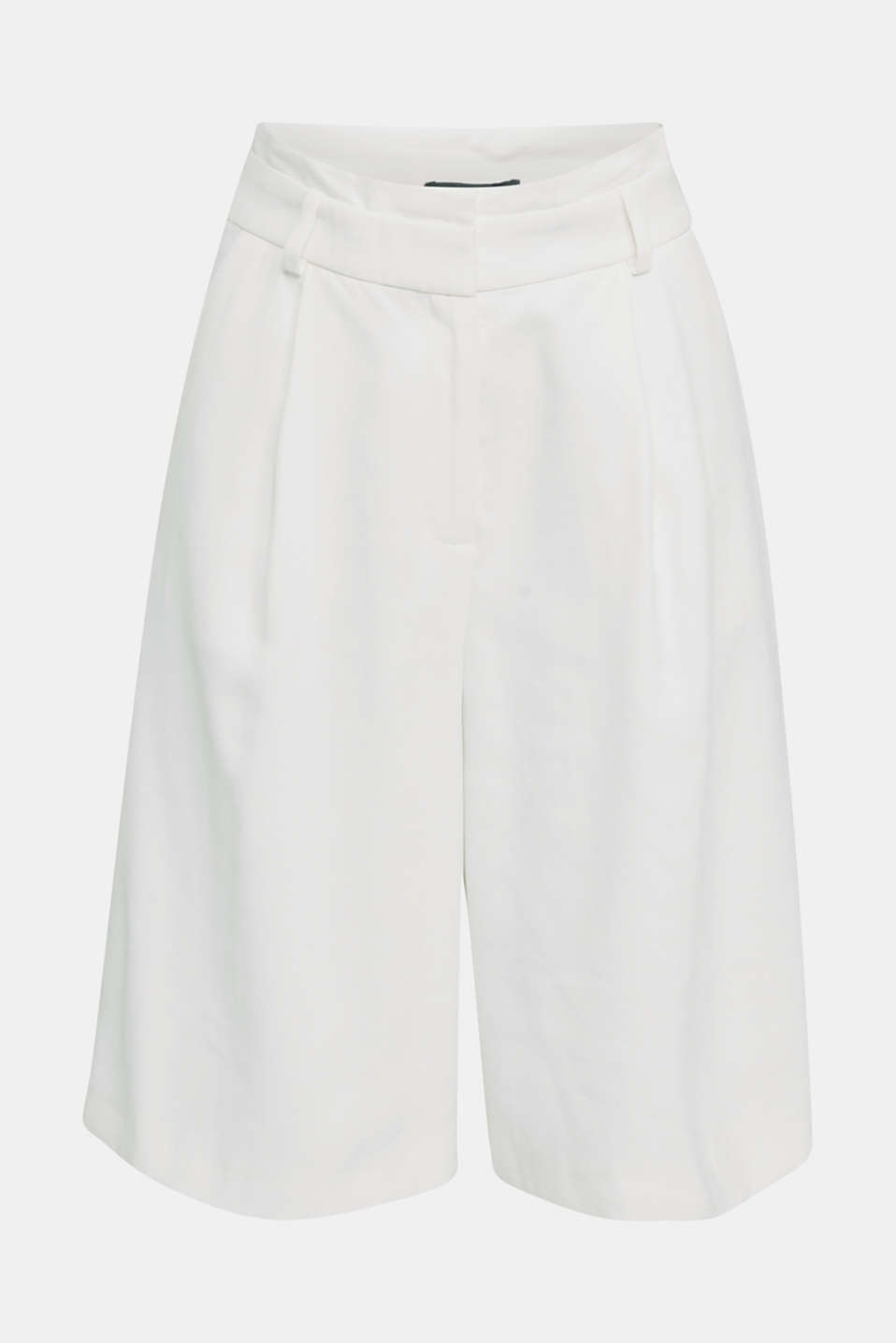 Flowing Bermudas with a wide leg, WHITE, detail image number 6