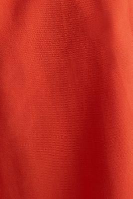 Flowing Bermudas with a wide leg, RED ORANGE, detail