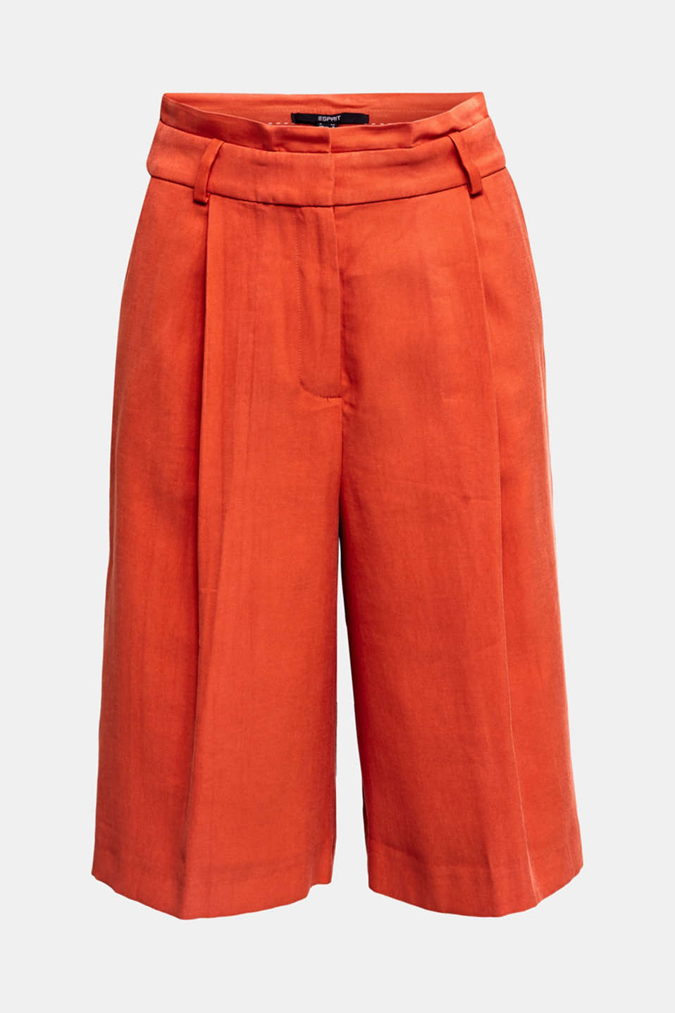 Flowing Bermudas with a wide leg, RED ORANGE, detail image number 7