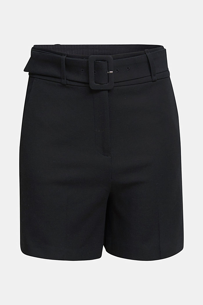High-rise shorts with a belt