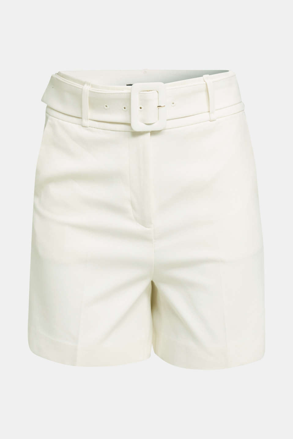 High-rise shorts with a belt, OFF WHITE, detail image number 5