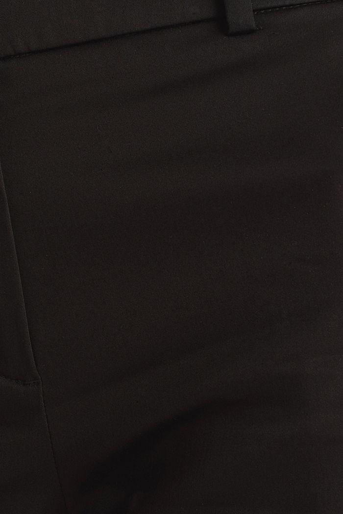 Stretchy satined Bermuda shorts, BLACK, detail image number 2